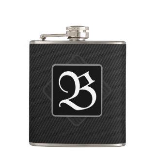 Carbon Fibre Monogram Flask