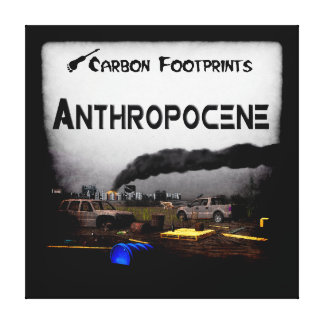 Carbon Footprints - Anthropocene Gallery Wrap Canvas