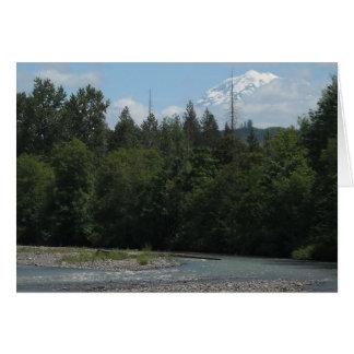 Carbon River Mount Rainier Card