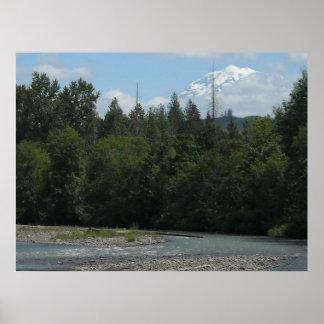 Carbon River Mount Rainier Posters