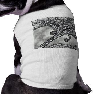Carbon Space Flower 4 Doggy T-shirt Sleeveless Dog Shirt