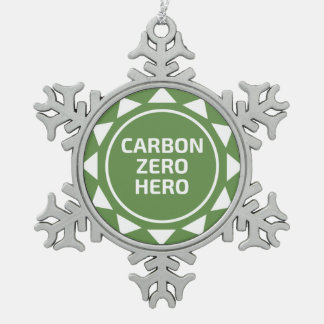 Carbon Zero Hero Christmas Snowflake Ornament
