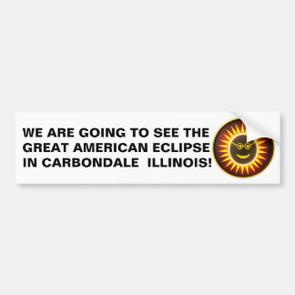 Carbondale Illinois Eclipse Bumper Sticker