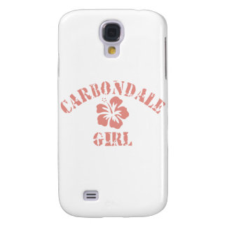 Carbondale Pink Girl Galaxy S4 Covers
