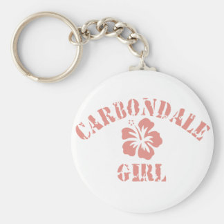 Carbondale Pink Girl Keychain