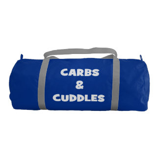 Carbs and Cuddles - Funny Novelty Food Gym Duffel Bag