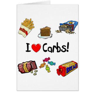 carbs card