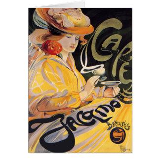 Card:  Art Nouveau Café Card