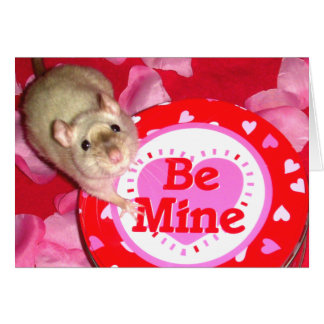 "Card: ""Be Mine"" for rat lovers! Card"