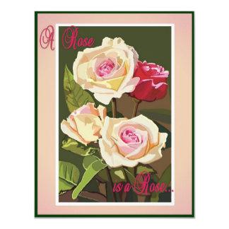 Card (blank) -A Rose 11 Cm X 14 Cm Invitation Card