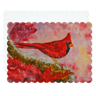 Card - Cardinal - Watercolor