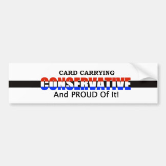 Card Carrying Conservative Bumper Sticker