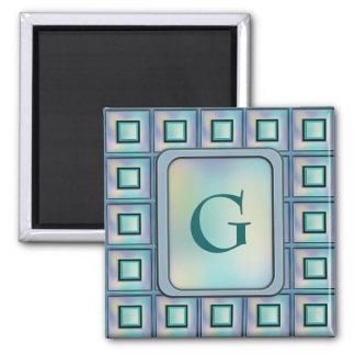 Card Catalog Square Magnet