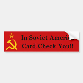 Card Check You!! Car Bumper Sticker
