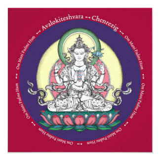 CARD Chenrezig / Avalokiteshvara - with envelope
