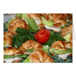 """Card, """"Croissant Sandwiches # 2"""" Card"""