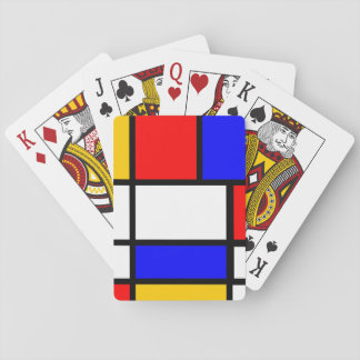 Card deck Mondrian Playing Cards