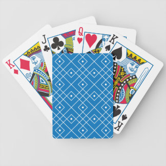 Card deck with blue square pattern poker deck