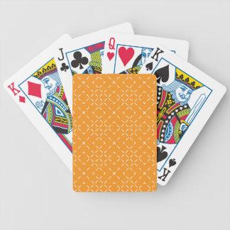 Card deck with orange pattern poker deck