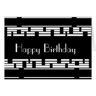Card Deco Black White Birthday Male