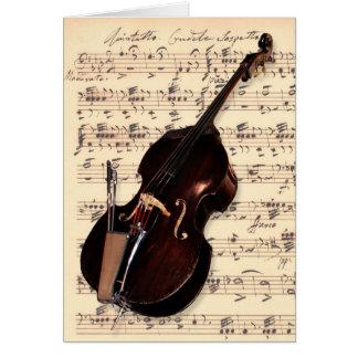 Card - Double Bass with hand written sheet music