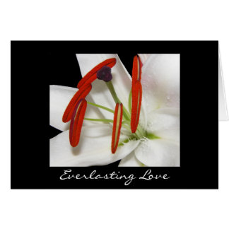 Card Everlasting Love Lily Flower