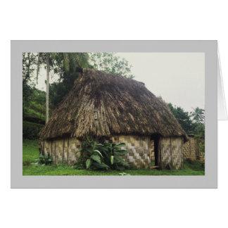 Card, Fijian Bure, Naitauvoli,Viti Levu Card