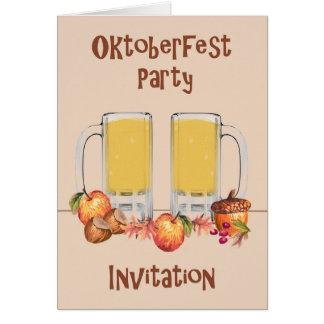 Card for an Oktoberfest Party Invitation