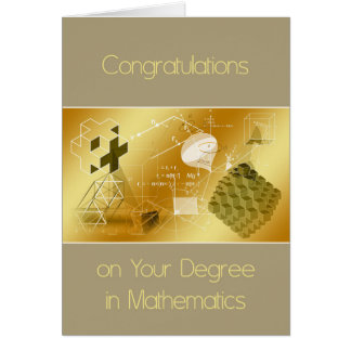 Card for Degree in Mathematics