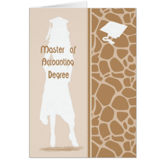 Card for Master of Accounting Degree