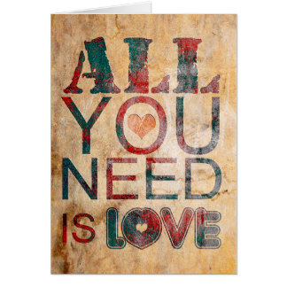"Card for present ""All you need IS love """