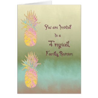 Card for Tropical Family Reunion Invitation