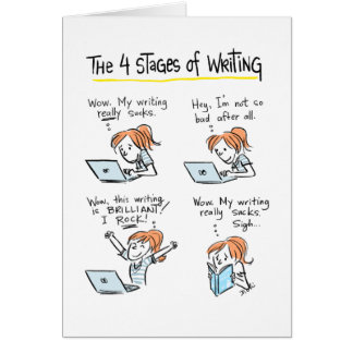 Card For Writers: Four Stages Of Writing