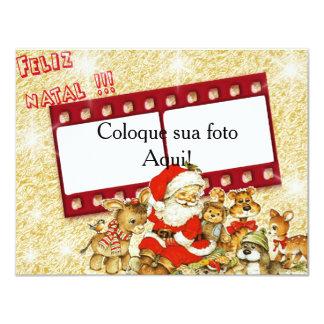 """Card frame """"Happy Christmas! """" 11 Cm X 14 Cm Invitation Card"""