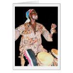 "Card, ""Gambian Drummer, Banjul, The Gambia"""