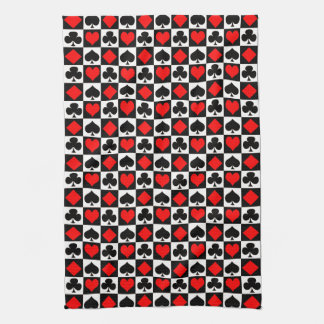 Card Game Suits Tea Towel