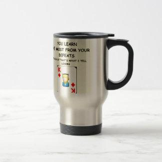 card games stainless steel travel mug