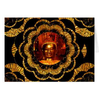 Card   Gold Mandala Bronze Buddha Birthday Card