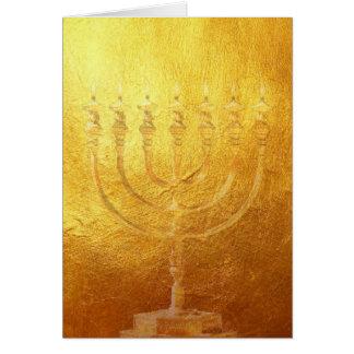 Card golden Menorah | gold | Israel | map