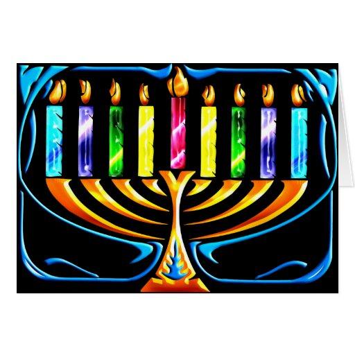 Card: Hanukkah Menorah - Chanukah Menorah