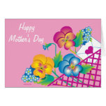 CARD Happy Mother's Day Pansies in Basket
