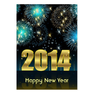 Card Happy New Year 2014 Pack Of Chubby Business Cards