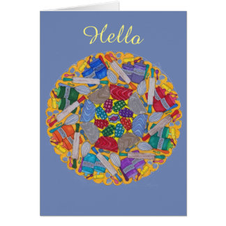 "Card ""Hello"" Baking Mandala Card"