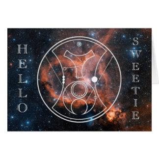 Card: Hello, Sweetie! - Heart Nebula Card