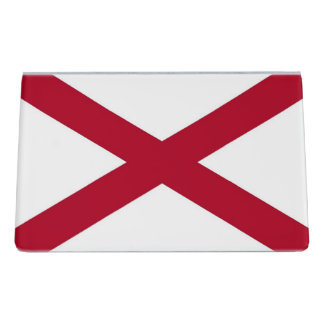Card Holder with flag of  Alabama State, USA