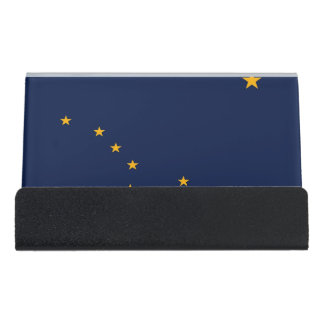Card Holder with flag of  Alaska State, USA