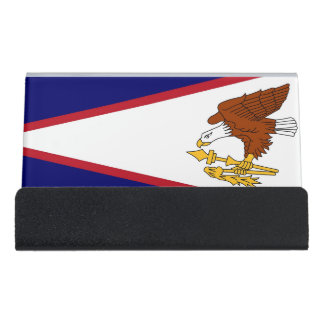 Card Holder with flag of American Samoa, USA