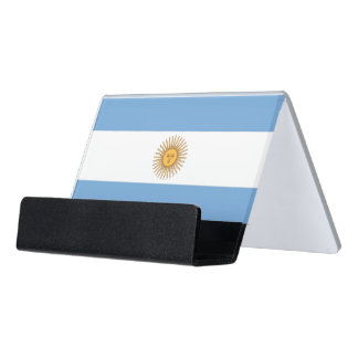 Card Holder with flag of Argentina, USA