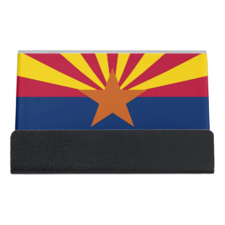 Card Holder with flag of  Arizona State, USA