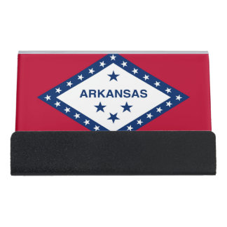 Card Holder with flag of  Arkansas State, USA